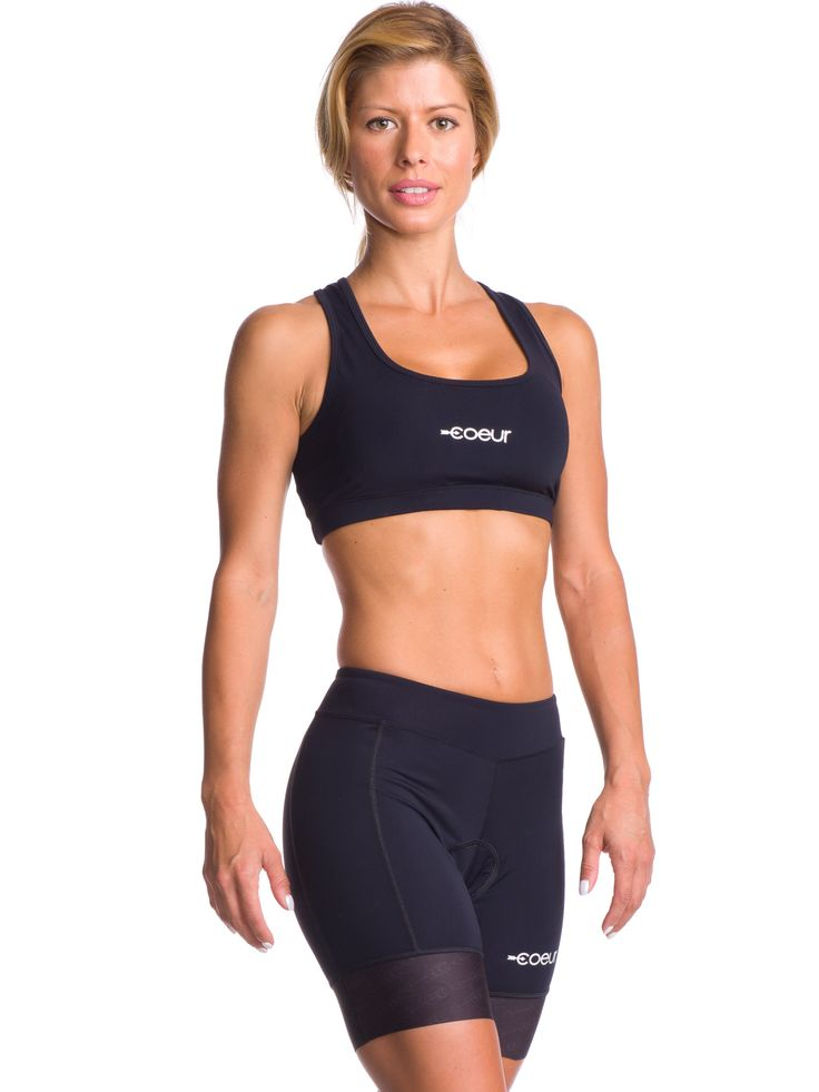 Women's Padded Cycling Shorts in Cold Black