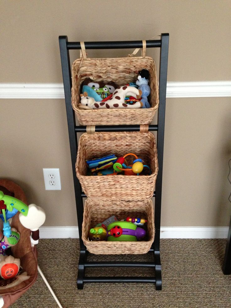 Toy organizer for living room hc playroom pinterest for Living room toy storage ideas