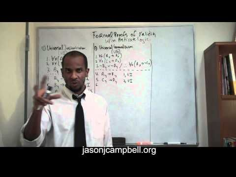 5. Logic Lecture: Predicate Logic: Formal Proofs of Validity: Universal Generalization - YouTube