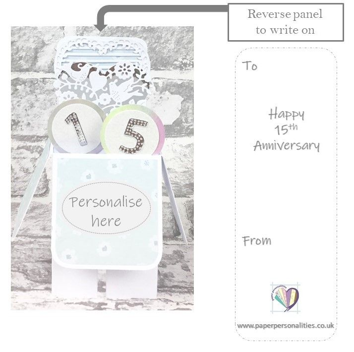 15th Anniversary Card Crystal Wedding Anniversary Personalised Anniversary Card Paper Personalities In 2020 Anniversary Cards Anniversary Cards Handmade Personalized Anniversary