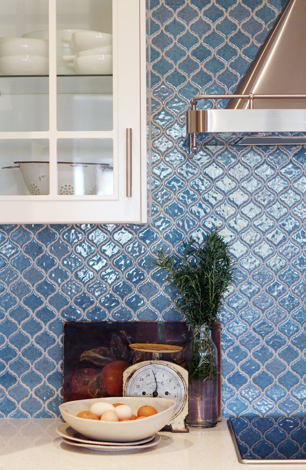 Ish And Chi: The IKEA Dream Kitchen Project: The New Kitchen U2013 Wow    Stunning Blue Moroccan Tile Backsplash