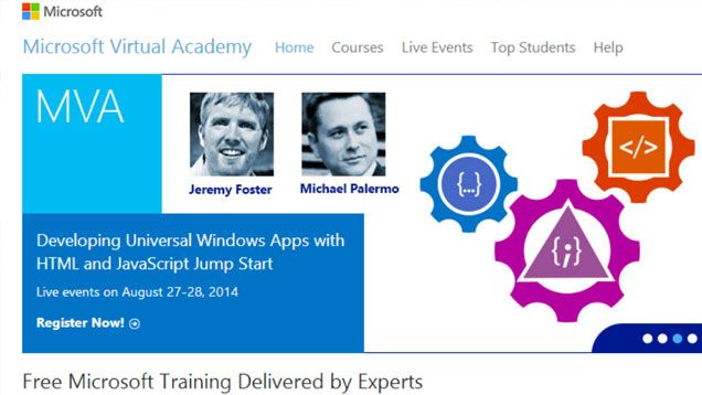 Microsoft Virtual Academy offers hundreds of free courses for anyone interested in improving their computer or IT skills.