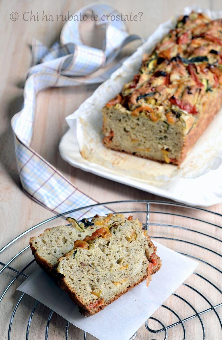Chi ha rubato le crostate?: Cake salato alle verdure arrostite... senza glutine