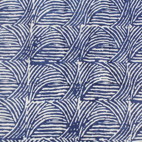 Stoff afrikanisch - Nigerian Batik Stoff in blau 5 Yards - ein Designerstück von urbanstax bei DaWanda