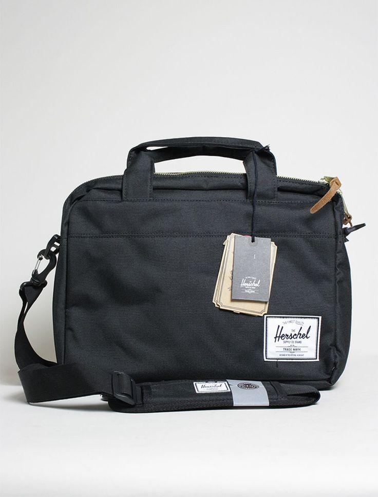 Herschel Hudson Messenger Black, borsa Unisex, spedizione gratuita italia