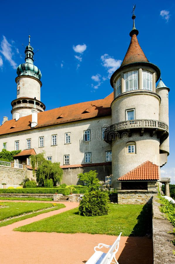 Castle of Nove Mesto nad Metuji with garden, Czech Republic. Image of castle, palace, metuji - 15257726