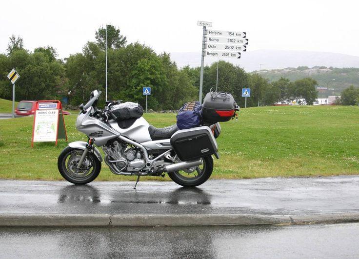 Kirkenes, Norway and the rain was heavy