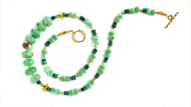 May birthstone: Chrysoprase necklace