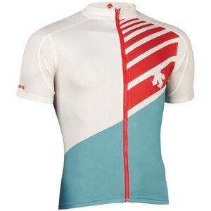 NEW DESCENTE HORSE THEIF JERSEY MENS ROAD BIKE CYCLING WHITE / BLUE SMALL S