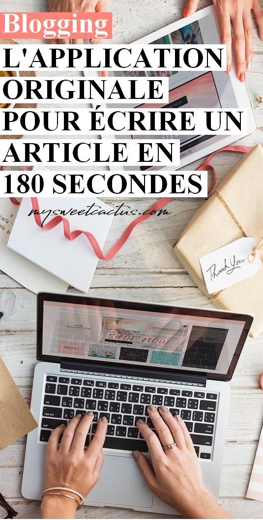 J'ai testé une application pour écrire un article de blog en 180 secondes. Je vous laisse découvrir le résultat de mon essai ! #blogging #blogueuse #astuces #conseils