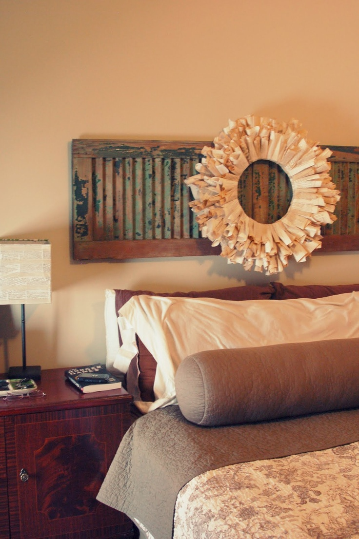 Western Inspired Room Love The Headboard With Old Doors: 1000+ Ideas About Shutter Headboards On Pinterest
