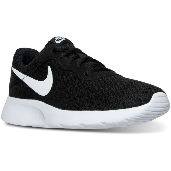 Nike Women's Tanjun Casual Sneakers from Finish Line ($65) ❤ liked on Polyvore featuring shoes, sneakers, nike trainers, nike footwear, nike shoes, nike and nike sneakers
