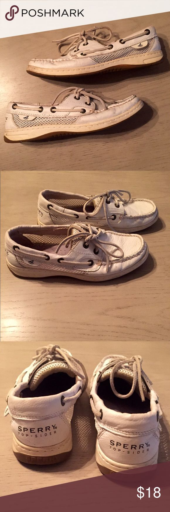 ✨SATURDAY SALE!✨ONLY $12! Off white SPERRYS • Size 6.5M • smoke & pet free home • ships same or next day • questions & offers are welcome! 👟 Sperry Shoes Flats & Loafers