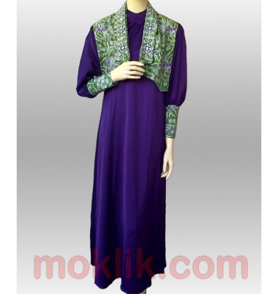 long dress batik muslim terbaru
