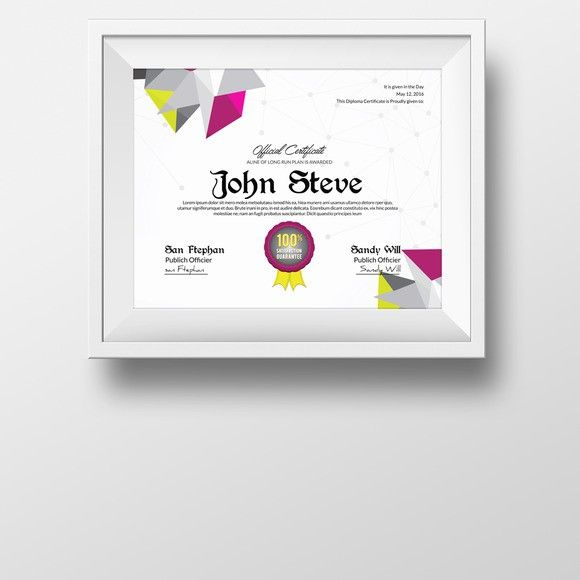 17 best Multipurpose Certificate Template images on Pinterest - creative certificate designs