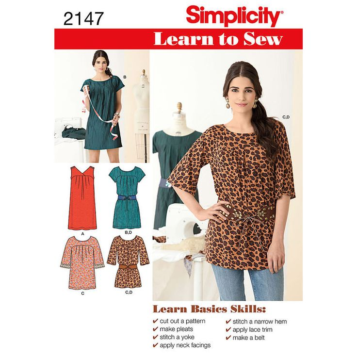 Superior Delightful Simplicity Learn To Sew Misses Dresses Pattern