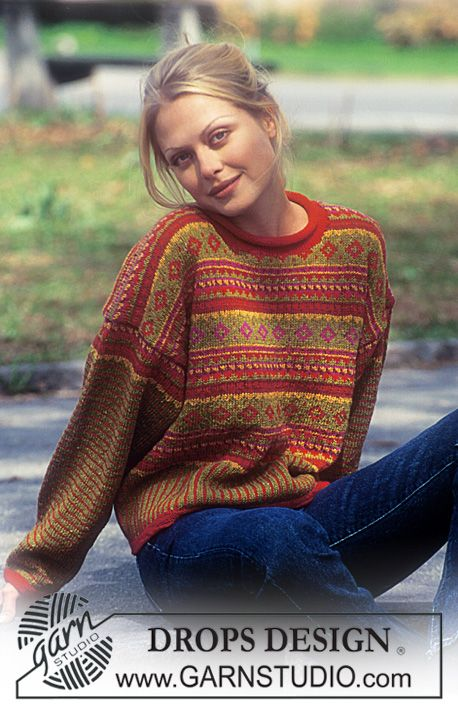 DROPS Sweater in Silke-Tweed and Alpaca ~ DROPS Design