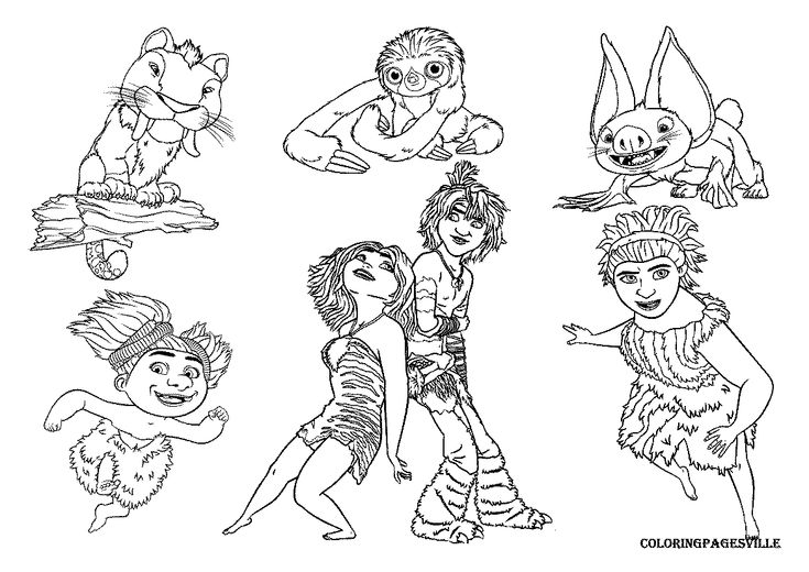 the croods eep coloring pages - photo#5