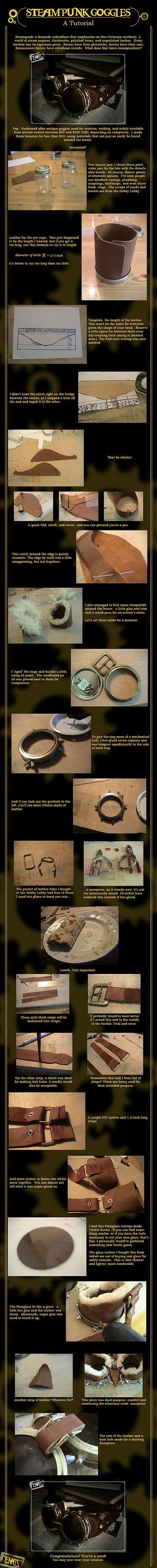 steampunk goggles DIY,
