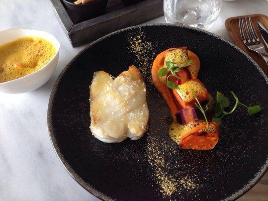 CORETTA/ Lieu demi sel, patates douces et émulsion au gingembre | Yelp