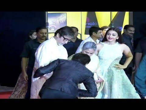 RESPECT ! Shahrukh Khan Touches Amitabh Bachchan & Jaya Bachchan's Feet.