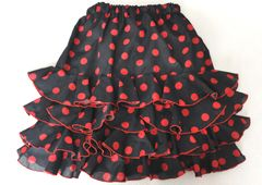 """Kids Flamenco Skirt """"Flamenquita 4 Frills"""" in sizes 3-6 years. Made to order - £47.99 at www.ambienteflamenco.co.uk/shop"""