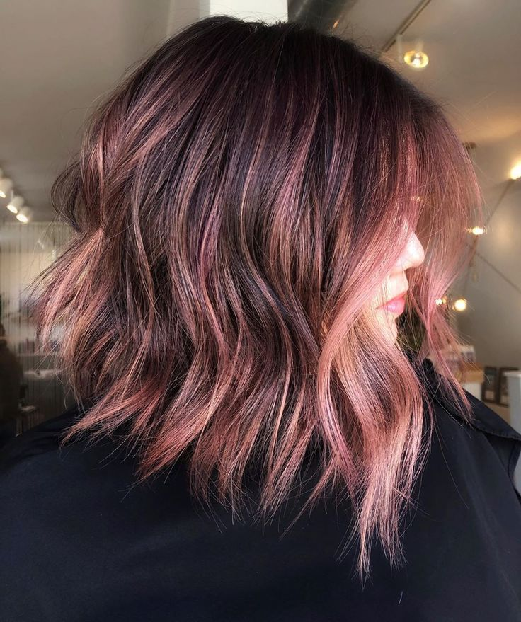 Chocolate mauve as a hair color is gorgeous and chic. Inside, learn everything you need to know about the shade, … | Pretty hair color, Hair highlights, Hair styles