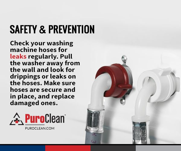 #SafetyReminder: Here's how to check your washing machine hoses for leaks: #WasherSafety
