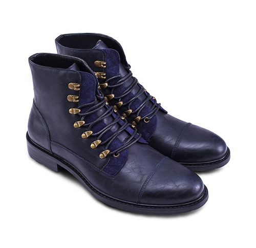 Lace Up Boots by Zalora. Snag yourself these rugged faux leather boots from ZALORA and reap the benefits. This vintage gold accented pair will bring out the edge in your look. http://www.zocko.com/z/JKAiH