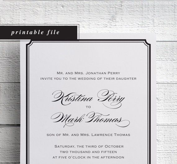 1000+ Ideas About Simple Wedding Invitations On Pinterest