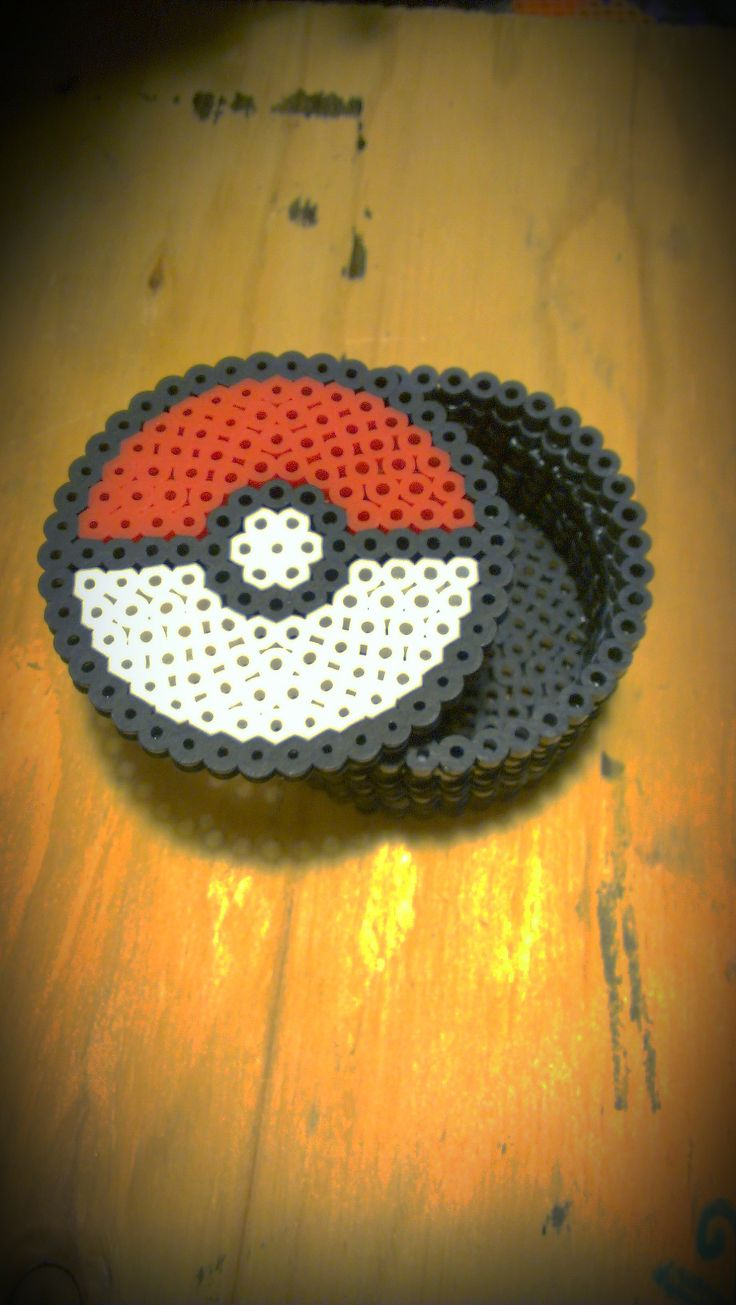 Seen on Etsy,com:  Pokeball perler bead box