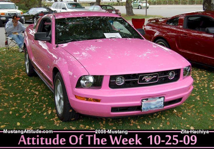 Pink Ford Mustang | Pink 2008 Ford Mustang Coupe - MustangAttitude.com Photo Detail