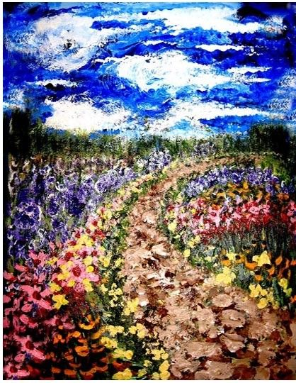 "Impressionism painting, Van Gogh like, art painting, ""Dream"""
