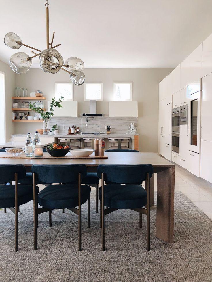 Modern Open Concept Dining Kitchen Space Love That Light Fixture