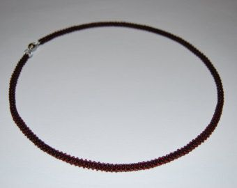 Beaded Necklace made with TOHO beads - handmade using the Cubic Right Angle Weave (C-RAW) technique - Etsy