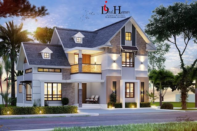 Colonial Style 4 Bedroom Home Plan In 1799 Sqft Suitable For 5