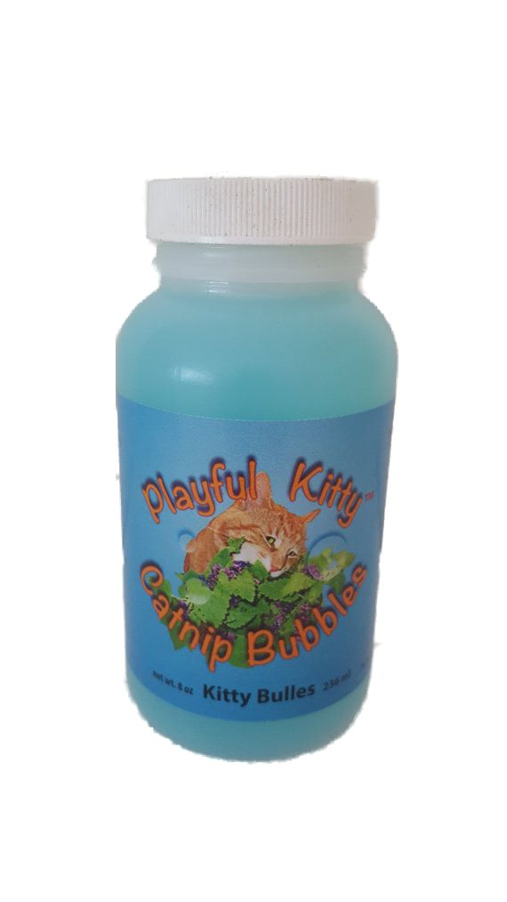Catnip Bubbles infused with Catnip oil : 5 ounce bottle