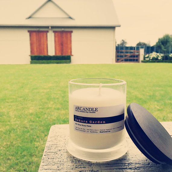 Sakura Garden. Large Soy Candle. by ArcandleSoyCandles on Etsy