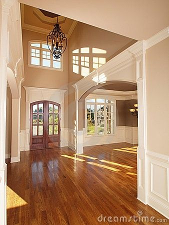 Not crazy about the door or light fixture, but love the layout of the entryway!