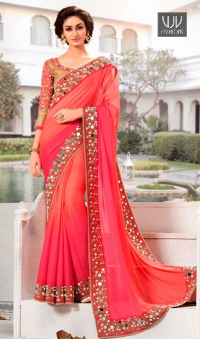 Buy Now @ http://goo.gl/obXnGx Refreshing Pink Lace Work Georgette Designer Saree Famous designers tend to give reign to their imagination and create clothes that look interesting and guided by the desire to attract attention. Product No VJV-TATH414 @ www.vjvfashions.com #saree #sarees #indianwear #indianwedding #fashion #fashions #trends #cultures #india #instagood #weddingwear #designer #ethnics #clothes #glamorous #indian #beautifulsaree #beautiful #lehengasaree #lehenga #indiansaree