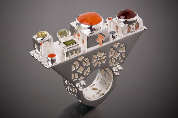 """Aline Kokinopoulos (France) and her """"castle rings"""" -- amazing"""