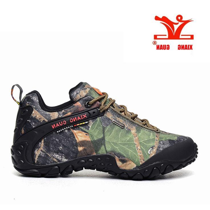 49.39$  Buy here - http://alisdj.worldwells.pw/go.php?t=32717583445 - XIANG GUAN Waterproof Hiking Shoes Men Camo Climbing Sneaker Women Camouflage Boot Plus Big Size Euro 46 47 48 Us 12 13 14 15
