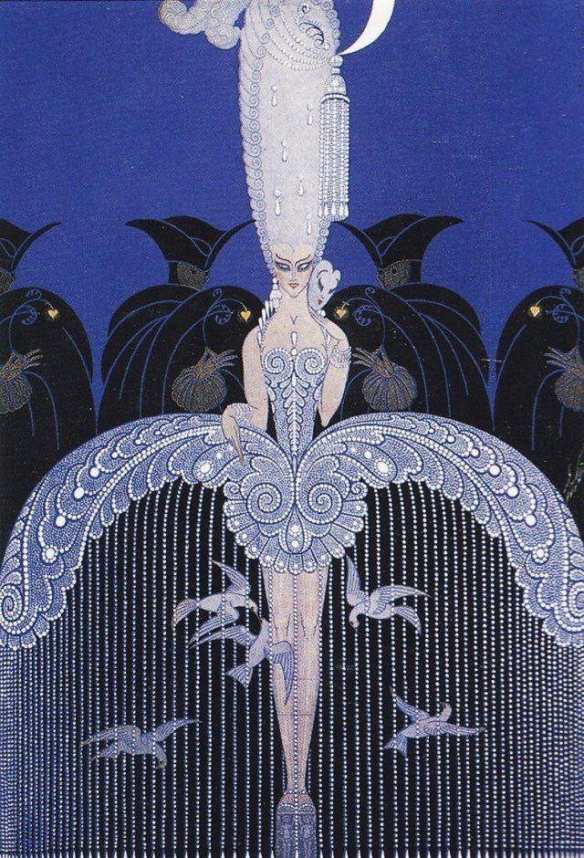 'Her Secret Admirers' by Erté  (Russian-born artist Romain de Tirtoff - the world-famous Erté).