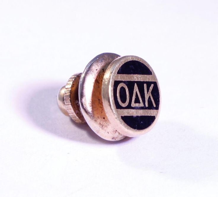 VINTAGE OMICRON DELTA KAPPA FRATERNITY*HONOR SOC. GOLD TONED TIE TACK PIN