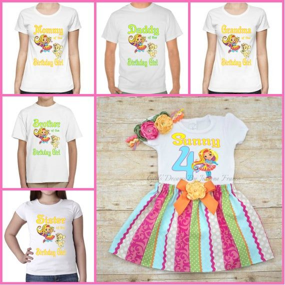 Sunny Day Personalized Birthday T-shirt for Girls