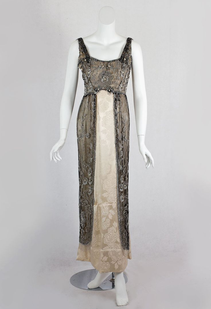 Fashion 1910 to 1920 - Doucet Beaded Evening Dress The Celebrated British And Actress Lillie Langtry Jersey Lily Is Pictured In A Doucet Gown From The Same Period