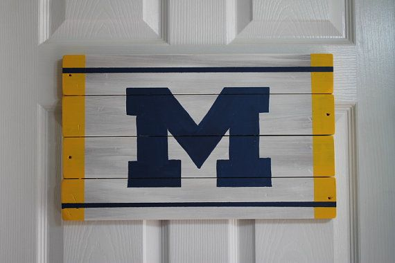 Hey, I found this really awesome Etsy listing at https://www.etsy.com/listing/238521987/university-of-michigan-hand-painted