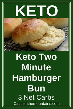Keto Two Minute Burger Bun | Recipe | KETO Diet | Recetas ...