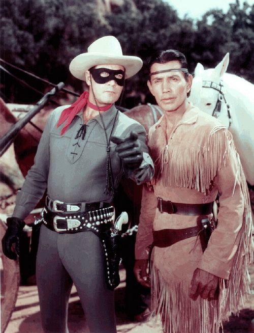 Lone Ranger and Tonto. Tonto now being played by Johnny Depp. I watched it as a kid and now I get to watch part of the movie being filmed in the little town I live in.