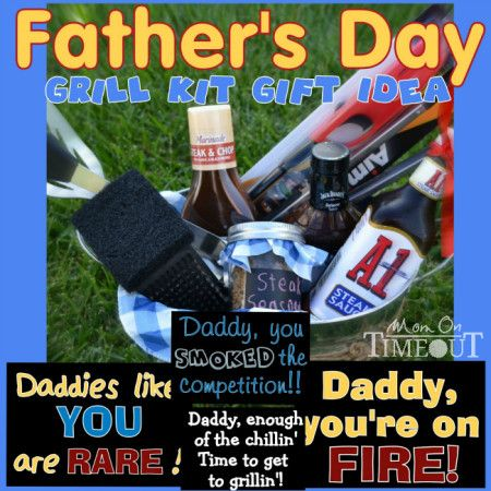Fathers Day Grill Kit Gift Idea | MomOnTimeout.com #fathersday #giftideas